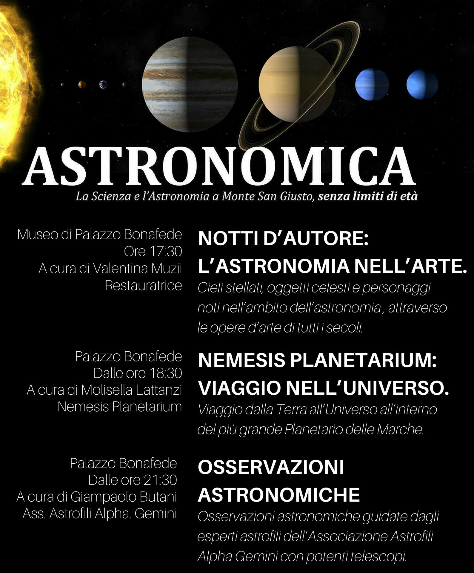 astronomia nelle marche